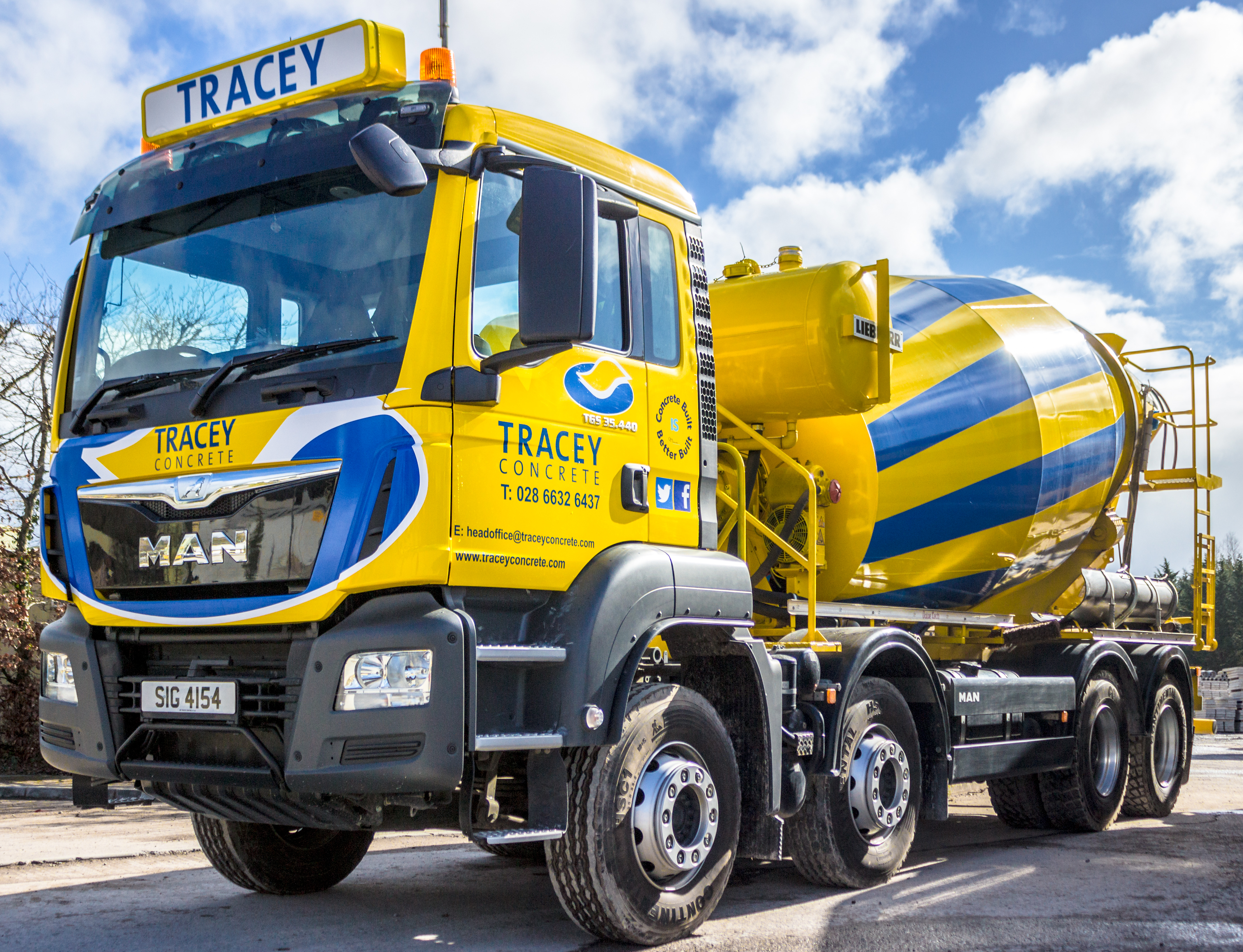 new readymix man lorry tracey concrete tracey concrete