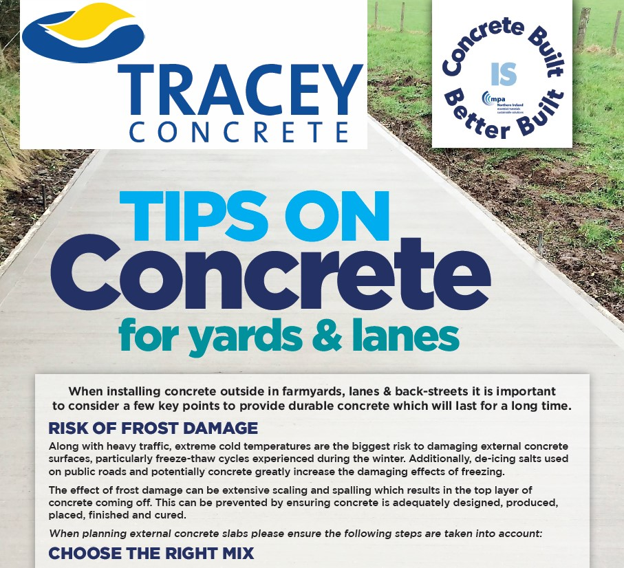 Tracey Concrete Tips on concrete lanes and yards